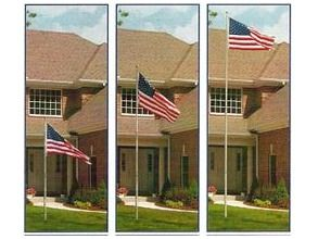 Telescoping Flagpole and 6 x 4 American Flag