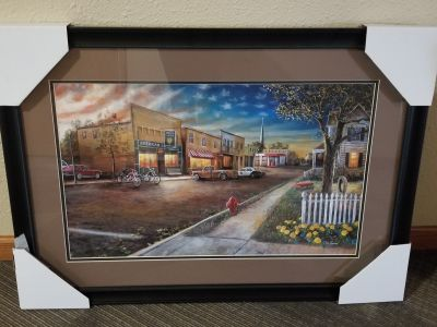 BASKET-  Patriotic Framed Picture
