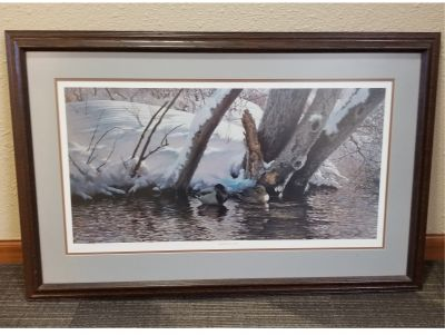 BASKET-  Winter Creek Framed picture