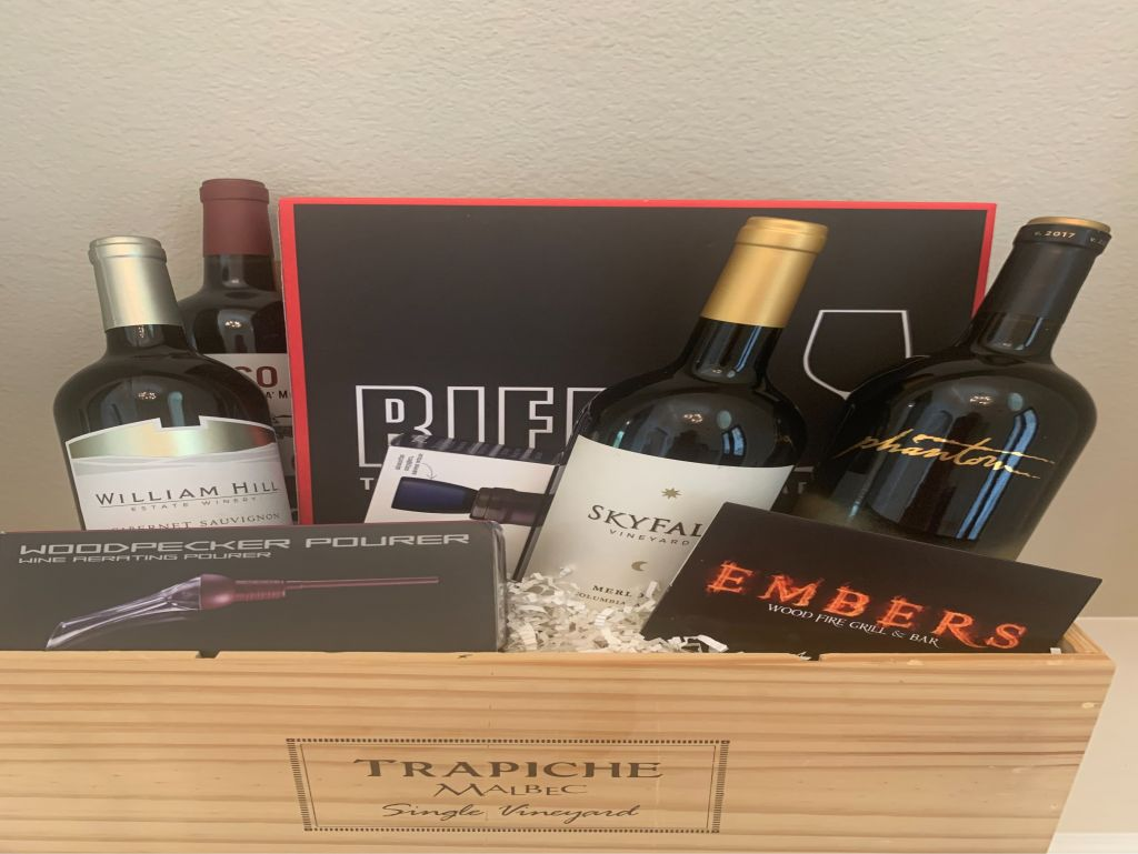 Embers Wine Basket and $50 Gift Card