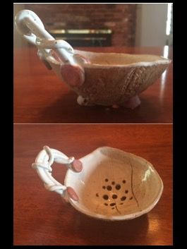 Hand-Built Pottery: Berry Bowl with Braided...