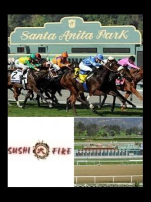 Turf and Surf at Race Track and Sushi