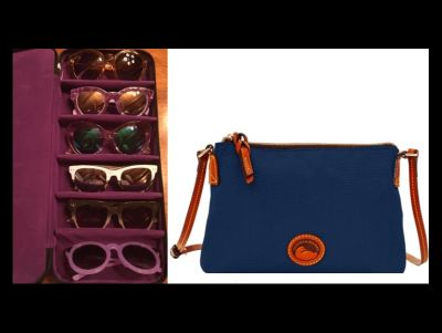 Styling with Dooney & Bourke Navy Pouch...