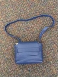 Halston Heritage Admiral Blue Leather Purse