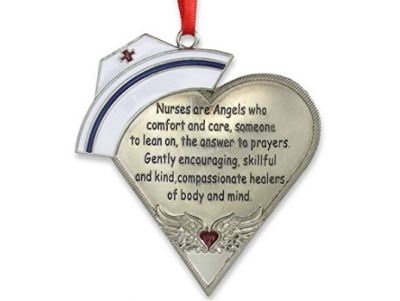 Nurse Heart Shaped Ornament with Message