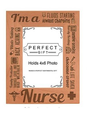 I am a Nurse Poem Natural Wood Engraved 4x6...