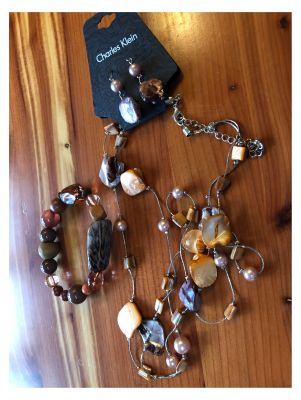 Charles Klein Shell Necklace, Earrings and ...