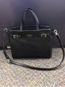Kate Spade Marga Pebble Black Leather Satch...