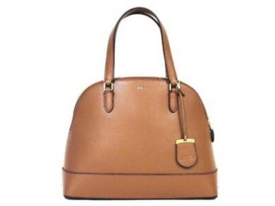 Ralph Lauren Calderwood Dome Satchel Brown ...