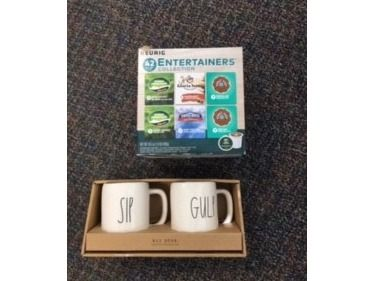Sip and Gulp Mugs with an Assortment of Cof...