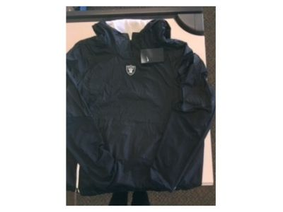 Oakland Raider NFL Official 3/4 Zip Windbre...