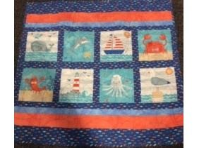 At The Beach Baby Quilt