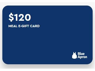 Blue Apron Gift Card $120