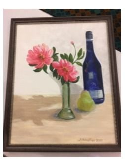 Flowers and Wine Painting