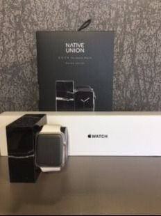 Apple S1 Watch with White Band and Native U...