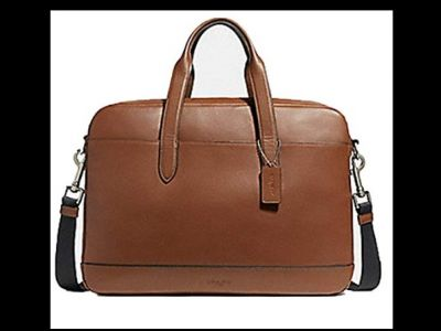 Coach Hamilton Leather Briefcase Messenger ...