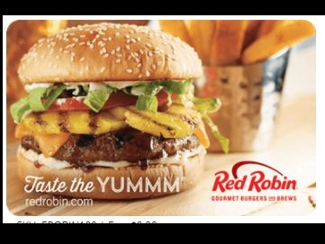 $45 Red Robin Gift Card