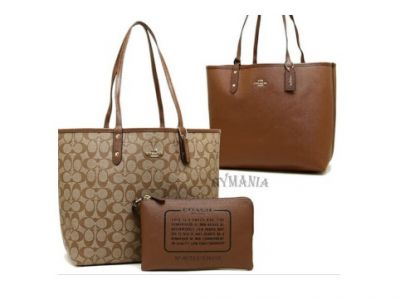 Share Coach Reversible City Tote in Signatu...