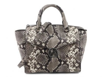 Michael Kors Women's Vanna Medium Python Sa...