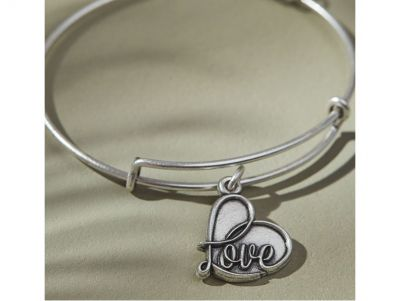 Alex and Ani Love Charm Brcaelet
