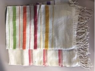 Two Hand Towels Hand Loomed in Ethiopia