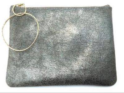 Medium Cosmo pouch in Distressed Metallic S...