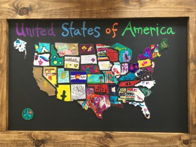 USA Magnetic Chalkboard By Ms. Hicks' 3rd G...