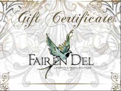 $100 Gift Certificate for Fairen Del