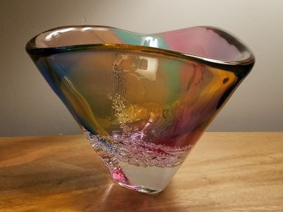 Sea Foam Triangle Bowl