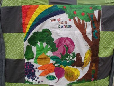 We Love Our Garden Handmade Quilt made by M...