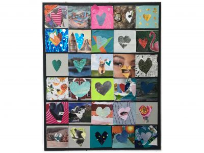 Hearts Art! - Miss Loza Class Artwork
