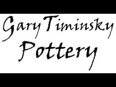 Gary Timinsky Handmade Pottery Chip and Dip