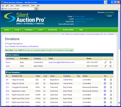 Auction Software For Non Profit Fundraising Silent Auction Pro